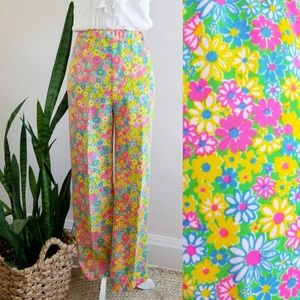 VTG 70s Lilly Pulitzer Sportswear Floral Pant
